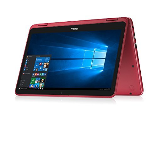 Dell Inspiron Business 2 in 1 Laptop PC 11.6' Touchscreen Intel Pentium N3710 Quad-Core Processor 4GB RAM 500GB HDD Wifi HDMI Bluetooth Webcam Windows 10-Red