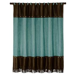 Turquoise Western Shower Curtain