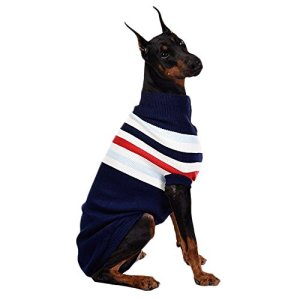 ASOCEA Dog Stripes Classic Sweater Winter Warmth Pet Clothes Apparel for Small Medium Large Dogs