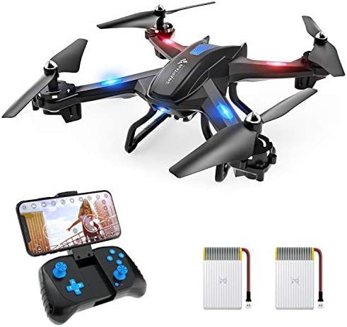 SNAPTAIN S5C WiFi FPV Drone with 1080P HD Camera,Voice Control, Wide-Angle Live Video RC Quadcopter with Altitude Hold, Gravity Sensor Function, RTF One Key Take Off/Landing, Compatible w/VR Headset