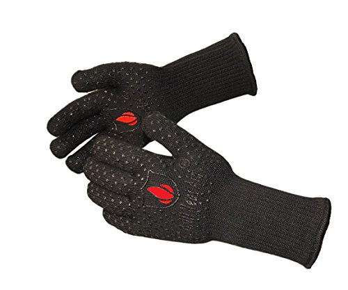 Extreme Heat Resistant Grill Gloves: Premium Insulated & Silicon Lined Fiber Mitts for Cooking, BBQ, Grilling, Frying & Baking for Indoor Outdoor, Kitchen & Oven