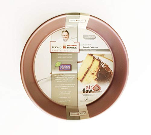 David Burke Commercial Weight 9'x2' Round Cake Pan Rose Gold with Air Flow Baking Technology