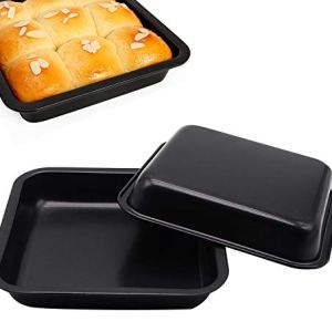 Vanly 2-Pack Square Non-Stick Cake Pans, High Carbon Steel Bakeware, 7.5 inches, Perfect for Brownies, Cinnamon Rolls, Square Cakes, Grilled Chicken Wings and More 41cCvRWH5 L