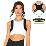 Posture Corrector for Women & Men- 2019 New version Amdieu Back Brace for Perfect Posture- Adjustable and Comfortable Clavicle Brace - Posture Fixer (FDA Approved )