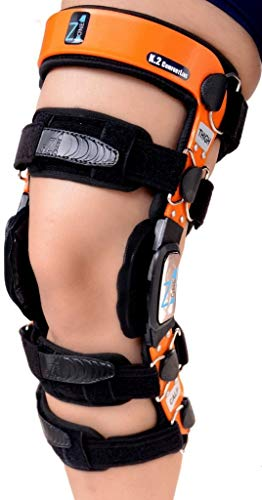 Braceit K2 ComfortLine Knee Brace (S16(THIGH=23-24.5'/CALF=15-16.5')–Ideal for ACL/Ligament / Sports Injuries, Mild Osteoarthritis(OA) & for preventive protection from Knee Joint Pain/Degeneration
