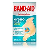 Band-Aid Brand Hydro Seal Large Waterproof Adhesive Bandages for Wound Care and Blisters, 6 ct