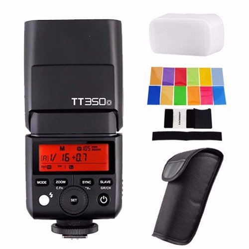 Godox TT350O 2.4G HSS 1/8000s TTL GN36 Camera Flash Speedlite for Olympus / Panasonic Mirrorless Digital Camera w/ EACHSHOT Color Filters