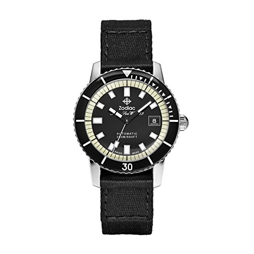 41cLKAVnWIL Case size: 40 mm; case thickness: 11 mm; band width: 20 mm Band material: fabric, movement: swiss-automatic; water resistance: 20 atm Swiss-automatic Movement