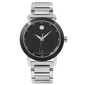Movado Museum Quartz Male Watch 0606604 (Certified Pre-Owned)