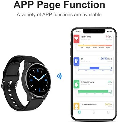 LIGE Smart Watch for Men and Women Heart Rate Sleep Monitor Remote Camera Control Notification Reminder IP67 Waterproof Fitness Exercise Tracker Sedentary Reminder Function Compatible iOS and Android… 5