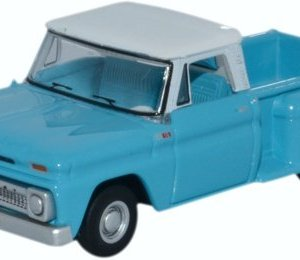 Oxford Diecast 87CP65001 1965 Chevrolet Stepside Pick Up light blue/white 1:87 HO Scale 41cbgo03msL