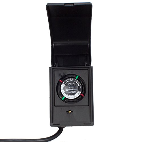 Intermatic P1121 Heavy Duty Outdoor Timer 15 Amp/1 HP for Pumps, Aerators,...