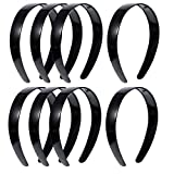 Nuberlic 20 Pack Plain Black Headband Craft 1 Inch Plastic Head Band Bulk Anti-Slip DIY Hairband for Women Girls Hair Accessories Jewelry Making Crafts