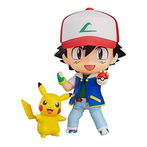 Huangyingui Ash Ketchum con Figura de acción de Nendoroid de Pikachu - Modelo de Juguete...