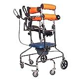 ZENGZHIJIE Wheelchair, Attendant-Propelled Wheelchair, Portable Transit Travel Chair