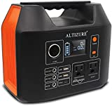 ALTIZURE Portable Power Station Portable DC/AC Power Generator Portable Power Bank 300W 296Wh 80000mAh Home Use/Outdoors Camping and Fishing Emergency,with 2 USB Port(5V3A/9V2A)/Home, 3 LED Flash