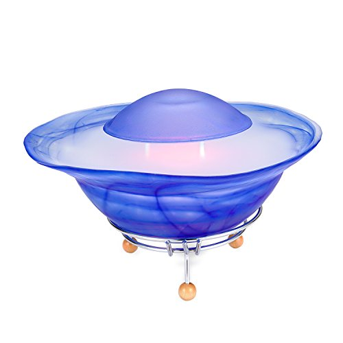CNZ Fantasy Tabletop Mist Fountain with 12-LED Color Changing, Blue
