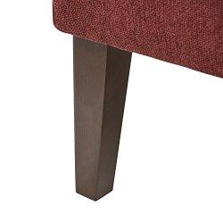 Amazon Brand – Stone & Beam Lummi Modern Armless Slipper Accent Chair, 21.6″W, Chianti