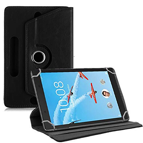 TGK 360 Degree Rotating Leather Rotary Swivel Stand Case Cover For Lenovo Tab 4 Plus 8 Inch Tablet (Black) 87