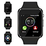 Smart Watch - Aeifond Touch Screen Sport Smart Wrist Watch Bluetooth Smartwatch Fitness Tracker Camera Pedometer SIM TF Card Slot Compatible Samsung Android iPhone iOS Kids Women Men (Black)