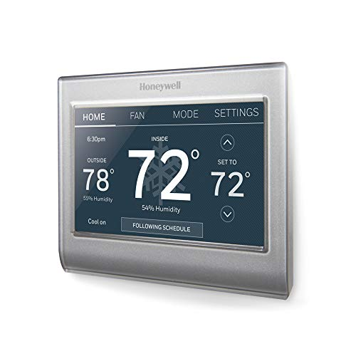 Honeywell RTH9585WF Wi-Fi Smart Color Thermostat, 7 Day Programmable, Touch Screen, Energy Star, Alexa Enabled