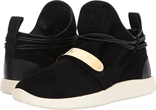 41cx Set out for a fashion adventure wearing these Giuseppe Zanotti™ sneakers. Suede leather upper. Lace-tie with wrap around detail around the ankle connected through soft reinforced loops.