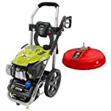 Ryobi Subaru 3,100-PSI 2.4-GPM Gas Electric Start Pressure Washer with 15 in. Surface Cleaner