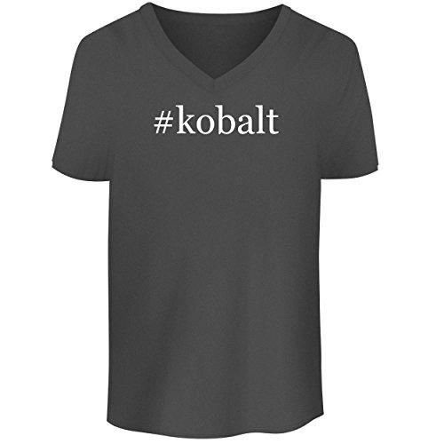 #Kobalt - Men's V Neck Graphic Tee, Grey, Small