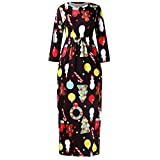 Product review of TIFENNY Women's Casual Christmas Plus Size Full Print Long Dress Stripe Dot Fasgion Skirt Tops