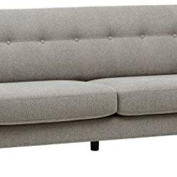 Amazon Brand – Rivet Sloane Mid-Century Modern Sofa Couch, 79.9″W, Pebble Grey
