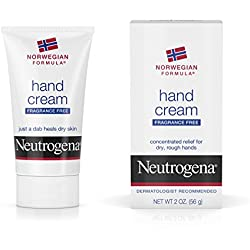 Neutrogena Norwegian Formula Moisturizing Hand Cream Formulated with Glycerin for Dry, Rough Hands, Fragrance-Free Intensive Hand Cream, 2 oz (Pack of 6)
