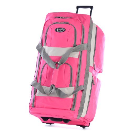 Olympia 33' 8 Pocket Rolling Duffel, Hot Pink