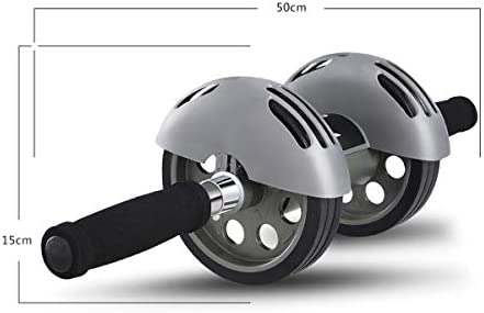 Merdia Abdominal Exercise Roller Wheel Core & Abdominal Trainers Double Wheels Fitness Equipment with Smart Brake and Rebound Knee Pad 9