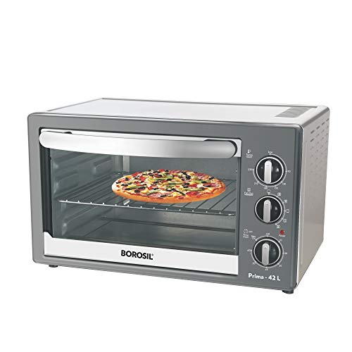 Borosil Prima 42 L OTG, With Motorised Rotisserie And Convection, 2000 W, 6 Stage Heating Function, Silver 175