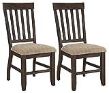 Ashley Furniture Signature Design - Dresbar Dining Room Chair - Classic Rake Back with Plush Seats - Set of 2 - Cream Finish