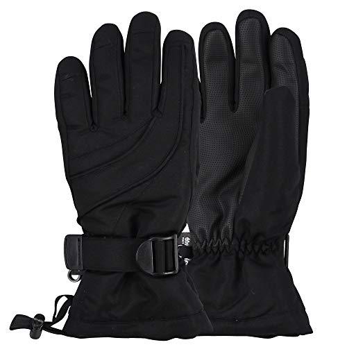 UB Cold Gear Women's Thinsulate Lined Waterproof Ski Glove (Black, Medium/Large)