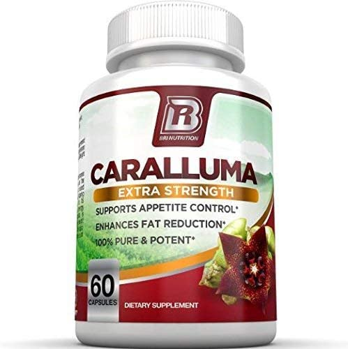 BRI Nutrition Caralluma Fimbriata - Natural Appetite Suppressant & Weight Loss Diet Pills - 1000mg, 30-Day, 60 Count Vegetable Cellulose Capsules 1