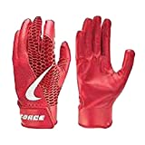 Nike Adult Force Edge Batting Gloves (University Red, Large)