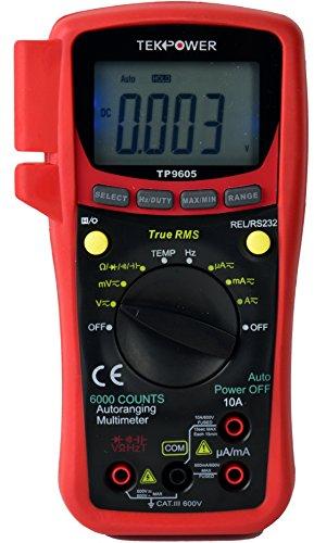 5. TekPower TP9605BT Auto Ranging Digital True RMS Smart Multimeter