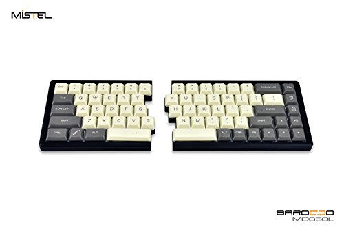 6eb57364f01 Mistel MD650L Ergonomic Split Mechanical Keyboard with Cherry ML Switch  (Milk/Gray Two Tone