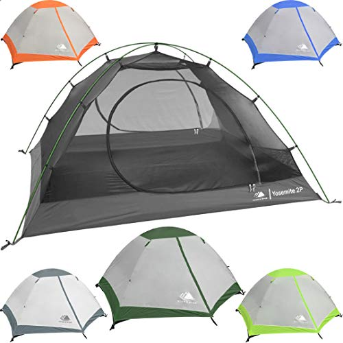 Hyke-Byke-Yosemite-1-and-2-Person-Backpacking-Tents-with-Footprint-Lightweight-Two-Door-Ultralight-Dome-Camping-Tent