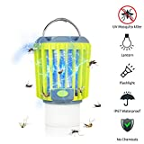 ERAVSOW Bug Zapper & LED Camping Lantern & Flashlight 3-in-1, Waterproof Rechargeable Mosquito Killer, Portable Compact Camping Gear for Home & Outdoors