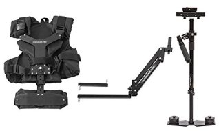 Flowcam-4000-Proking-Handheld-Camera-Stabilizer-Steadycam-with-ARM-Vest-and-Metal-Quick-Release-Adapter-Plate-for-Cameras-Upto-10-lbs45-kgsFCM-4000-AV-QR