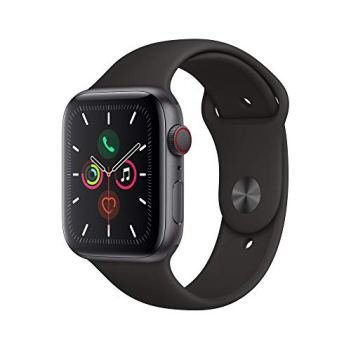 Apple Watch Series 5 (GPS + Cellular, 44mm) - Space Gray Aluminum Case with Black Sport Band