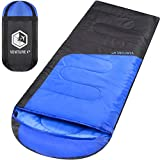 VENTURE 4TH Sleeping Bags for Adults | Lightweight and Compact Sleeping Bag for Hiking, Camping and Backpacking | Blue/Gray