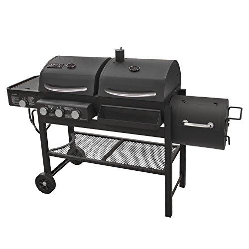 Smoke Hollow TC3718SB Gas-Charcoal-Smoker Combination Grill with Side Burner