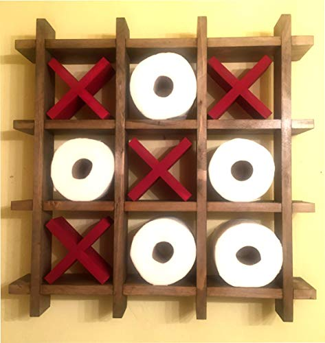 Tic-Tac-Toe Toilet Paper Holder