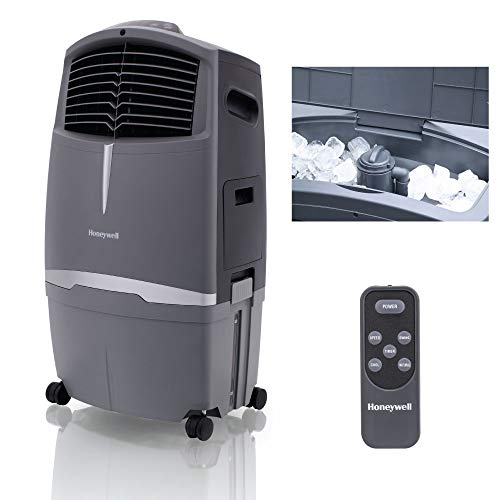 Honeywell 525 CFM Indoor Outdoor Portable Evaporative Cooler with Fan & Humidifier, Washable Dust Filter & Remote Control, CO30XE