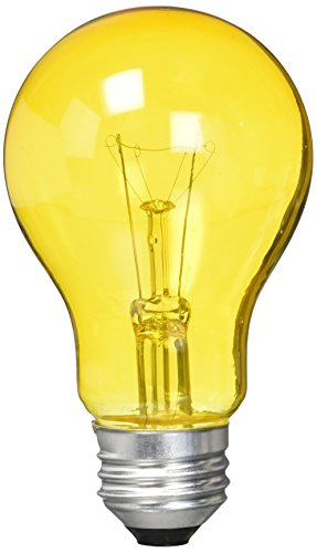 Westinghouse Lighting Westinghouse 0344300, 25 Watt, 120 Volt Trans Incandescent A19 Light Bulb-2500 Hours, 1 Pack, Amber