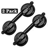 FCHO Glass Suction Cups Heavy Duty Aluminum Handle Glass Holder Hooks to Lift Large Glass/Floor Gap Fixer/Moving Glass/Pad for Lifting/Dent Fixer (2 Pack)